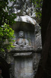 The buddha in Lingyin scenic area Royalty Free Stock Images