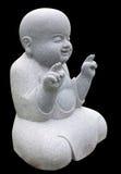 buddha little som ler Arkivbilder