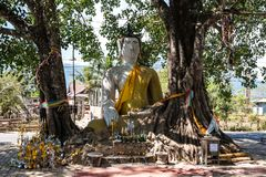 Buddha in a little village near Nakasong islands in Laos stock image