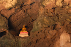 Buddha, located in Cave Royalty Free Stock Photography