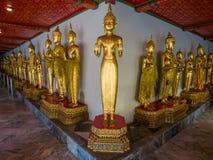 Buddha long corridor at Wat Pho Royalty Free Stock Photos