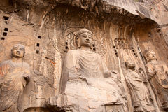 Buddha,Longmen Caves. This is a photo of the Longmen Caves in Luoyang City, Henan Province, China. Longmen Caves(Dragon Door Grottoes), are situated in Central Stock Photo