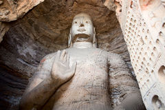 Buddha,Longmen Caves. This is a photo of the Longmen Caves in Luoyang City, Henan Province, China. Longmen Caves(Dragon Door Grottoes), are situated in Central Royalty Free Stock Photos