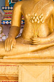 Buddha with lotus in hand close up. Buddha with lotus in hand from bang-pre temple thailand Royalty Free Stock Photography