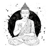 Buddha in lotus position Royalty Free Stock Photos