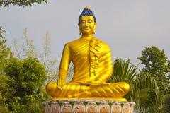 Buddha in Lumbini Fotografie Stock