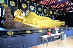 Buddha lying asleep Stock Images