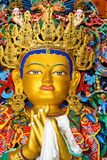 Buddha maitreya statue  close up in a monastery Royalty Free Stock Image