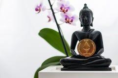 Buddha med ethereum Arkivbilder