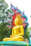 Buddha med konung av naga 01 Arkivfoton