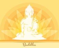 Buddha med lotusblommablomman Royaltyfri Fotografi
