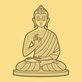 Buddha medita Immagini Stock