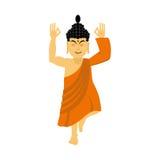 Buddha meditating Dios indio en el fondo blanco estatus ilustración del vector