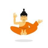 Buddha meditating Dios indio en el fondo blanco estatus libre illustration
