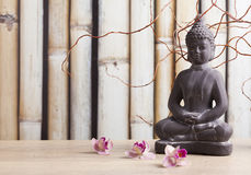 Buddha in meditation, religious concept Royalty Free Stock Images