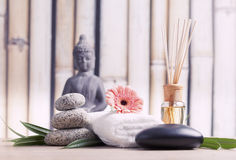 Buddha in meditation, religious concept Stock Images