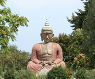 buddha meditationsitting Royaltyfria Foton