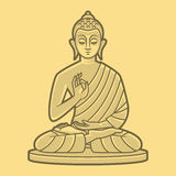 Buddha medytuje Obrazy Stock