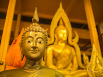 Buddha-Messingstatuen-Sitzen Lizenzfreie Stockbilder
