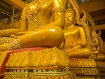Buddha-Messingstatuen-Sitzen Lizenzfreie Stockfotografie