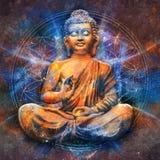 Buddha messo in Lotus Pose fotografia stock libera da diritti