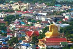 buddha miasta protech Obraz Royalty Free