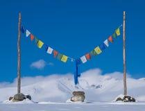 Buddha modlitwy flaga Zdjęcia Royalty Free