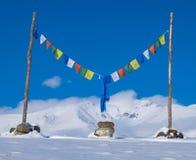 Buddha modlitwy flaga Zdjęcie Stock