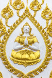 Buddha molding craft on the wall pagoda Stock Images