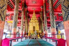 Buddha in monastery of Wat Pra That Lampang Luang Stock Image