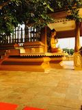 Buddha monastry stockbild