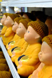 Buddha monk dolls Stock Photography