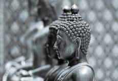 buddha monokromstaty Arkivfoto