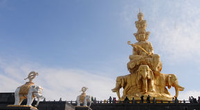 Buddha Monument on the top of Emeishan in Sichuan, China Stock Image