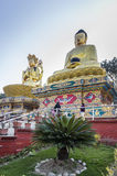 Buddha monuments at Swayambhunath Temple Stock Photos