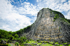 Buddha mountain. That make by human Royalty Free Stock Photos