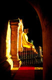 Buddha, Myanmar. Golden Buddha inside a temple in bagan, Myanmar Royalty Free Stock Photography