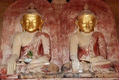 Buddha Myanmar. Two Buddhas in Bagan Myanmar Stock Photos