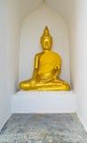 Buddha na ścianie Zdjęcia Royalty Free