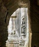 Buddha na ścianie Zdjęcie Royalty Free
