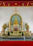 Buddha na igreja fotografia de stock