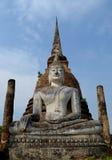 Buddha nel parco nazionale storico di Sukhothai Immagini Stock