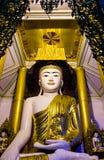 Buddha on Neon Stock Photos
