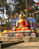The Buddha in Nepal Stock Photos