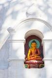 buddha Nepal statuy swayambunath świątynia Zdjęcia Royalty Free