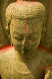 buddha nepal staty Arkivbilder
