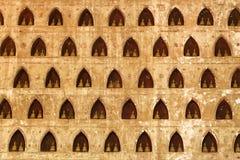 buddha niches väggen Royaltyfri Foto