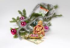 Buddha och nytt år Royaltyfri Fotografi