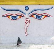 Buddha oczy Zdjęcia Stock