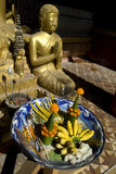 buddha offerings Royaltyfri Bild
